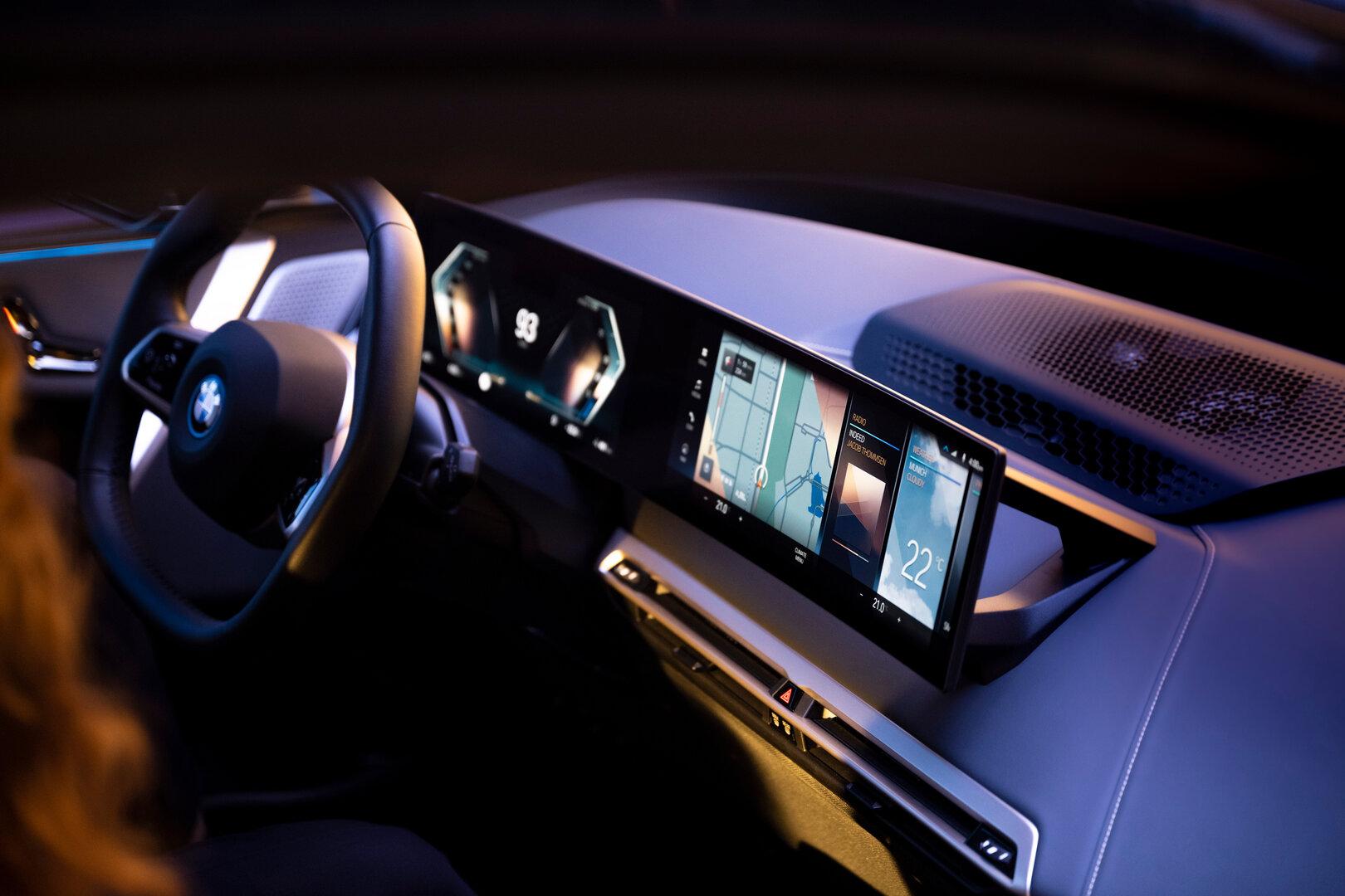 Das neue iDrive mit BMW OS 8 und Widgets