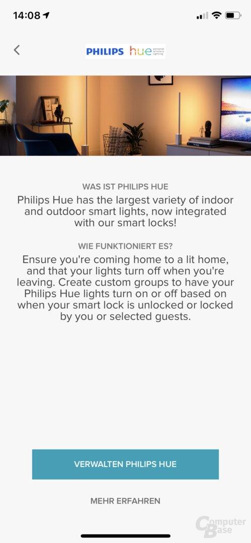 Verknüpfungen von Linus und Philips Hue