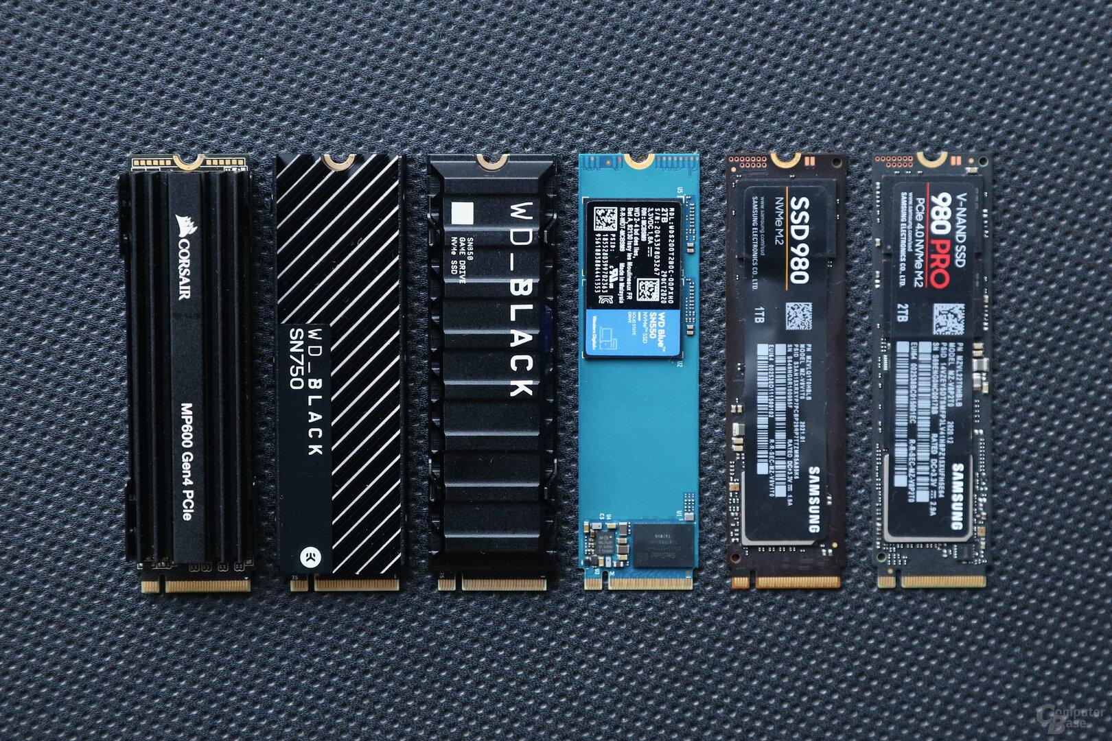 M.2-SSDs mit NVMe
