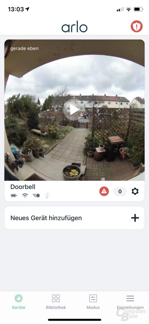 Einrichtung der Arlo Video Doorbell Wire-Free