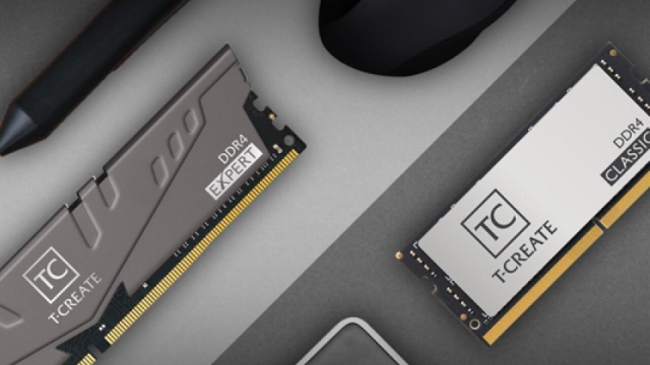 Team Group T-Create: Expert-Linie als Desktop-RAM, Classic auch als SO-DIMM