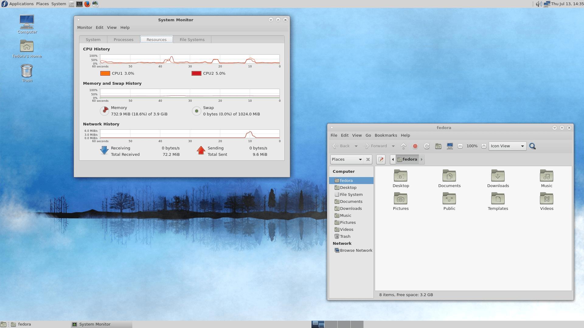 Fedora 34 mit MATE