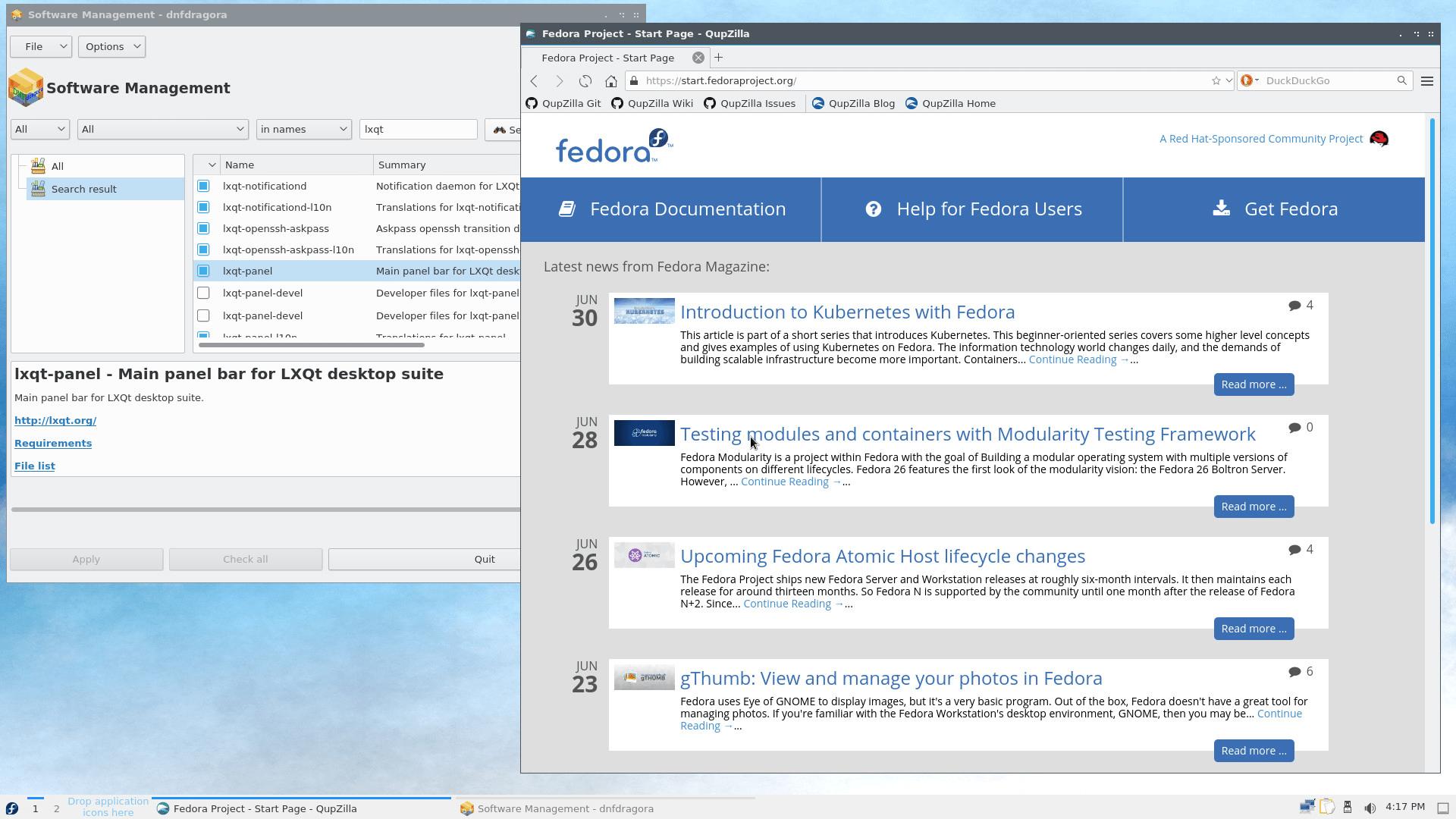 Fedora 34 mit LXQt