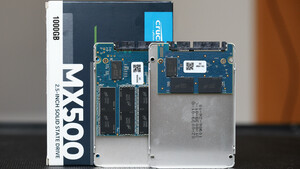 """Crucial MX500 """"M3CR033"""" im Test: Die SSD-Empfehlung mit Stand 2017 und 2021 im Vergleich"""