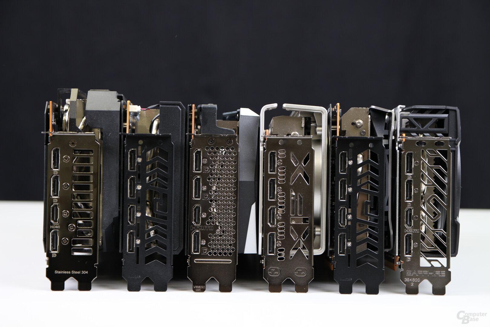 Die Monitoranschlüsse der Radeon RX 6700 XT Customs
