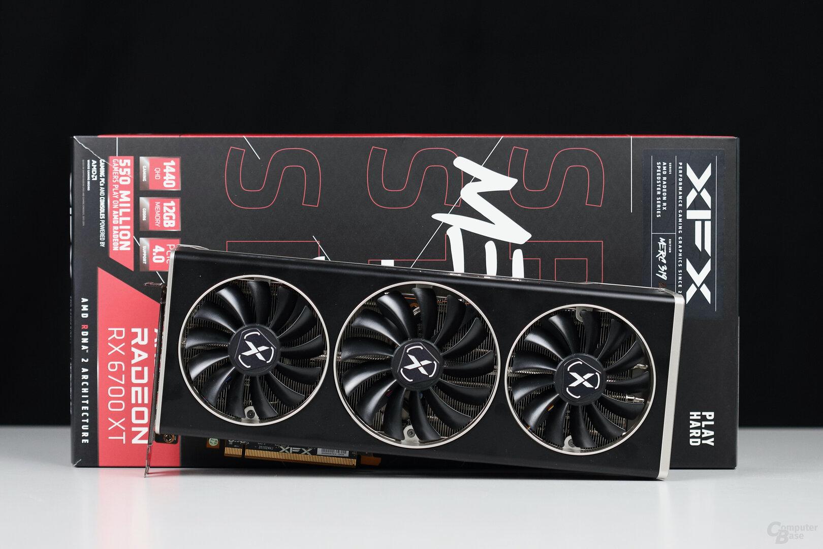 Die XFX Radeon RX 6700 XT Merc 319 im Test
