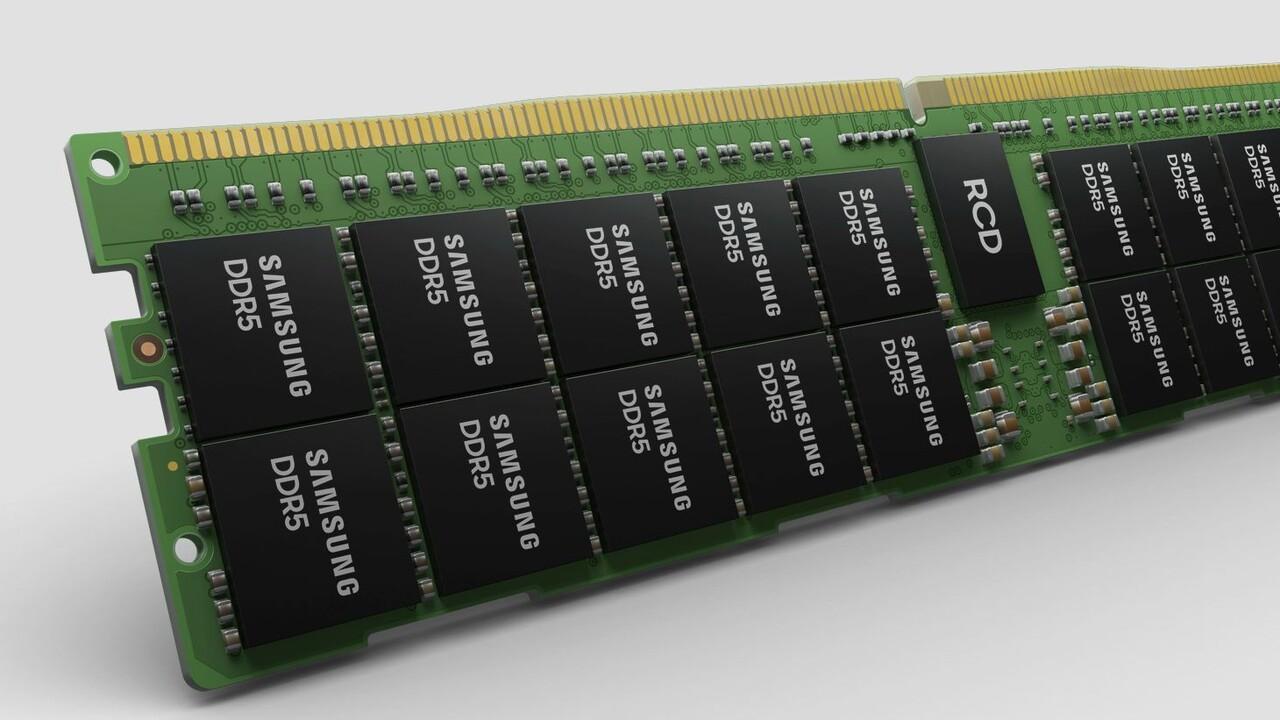 DDR5-Speicher: Samsungs 512-GB-Modul mit 7.200 MT/s und HKMG