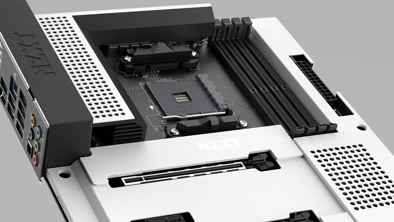 NZXT B550-Mainboard: Schwarz-weißes N7 erstmals für AMD Ryzen aufgelegt
