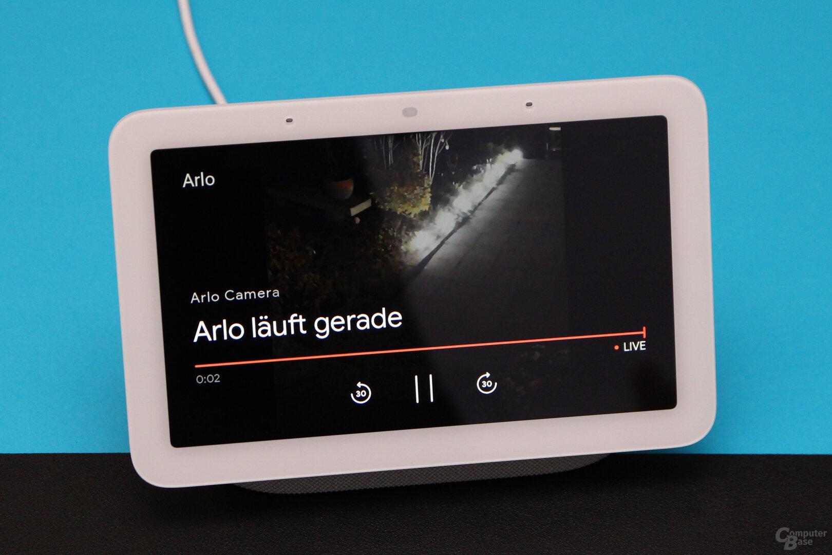Google Nest Hub (2. Gen.): Zugriff auf Kameras über das Display