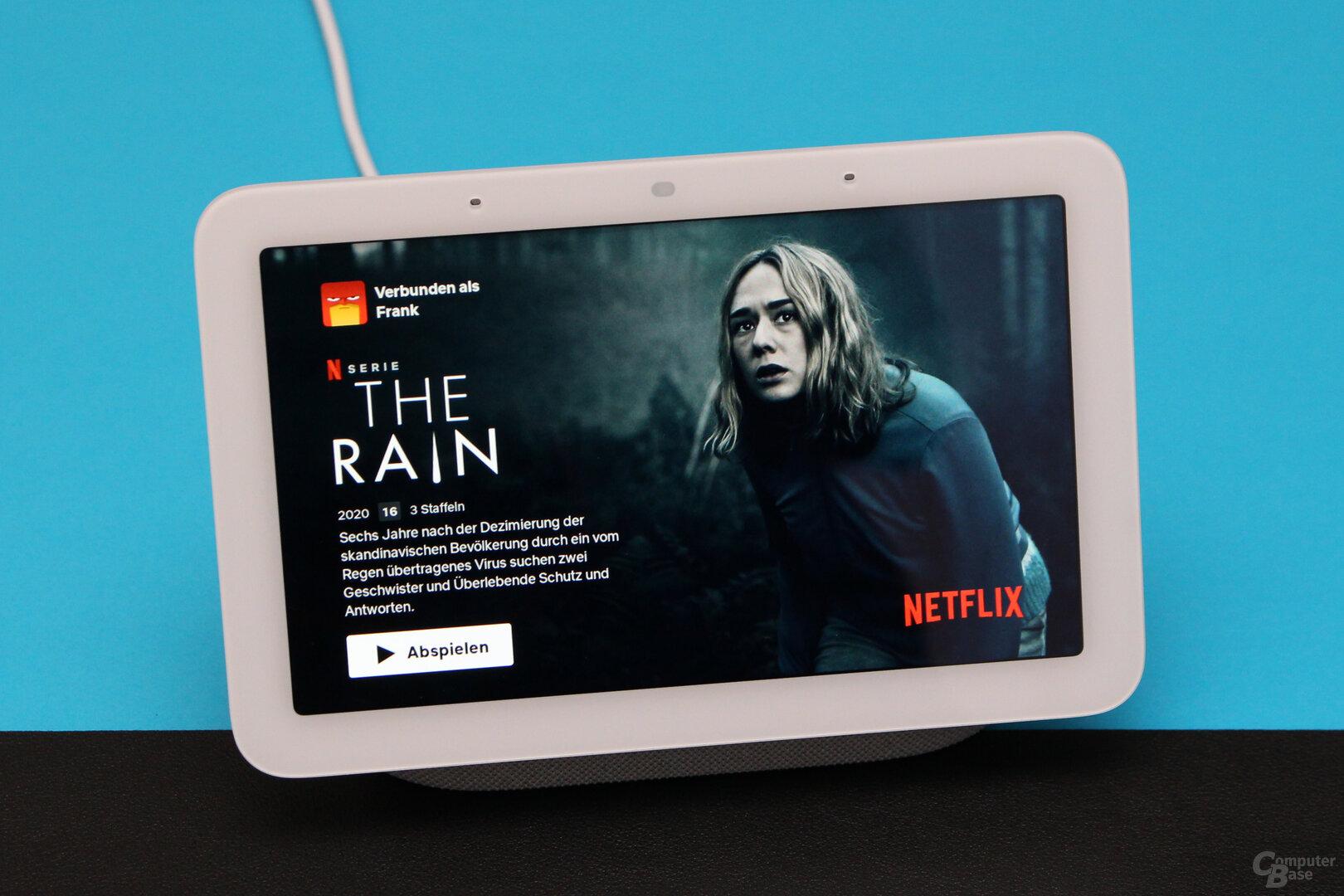 Google Nest Hub (2. Gen.): Empfehlungen in Netflix, aber kein Menü