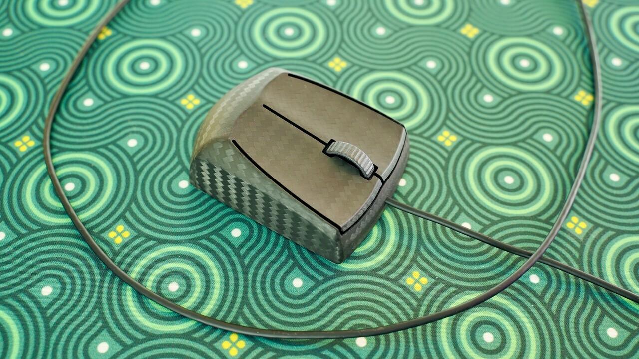 Zaunkoenig M2K: Karbon-Maus bietet Mausrad und 8.000 Hertz für 299 Euro