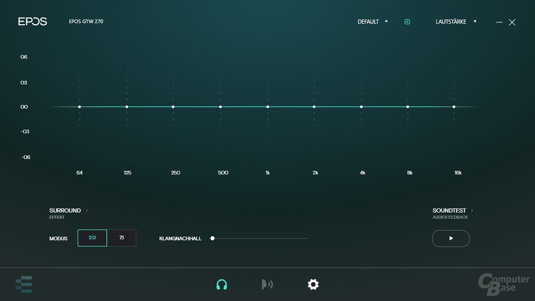 Epos Gaming Suite mit GTW 270 Hybrid
