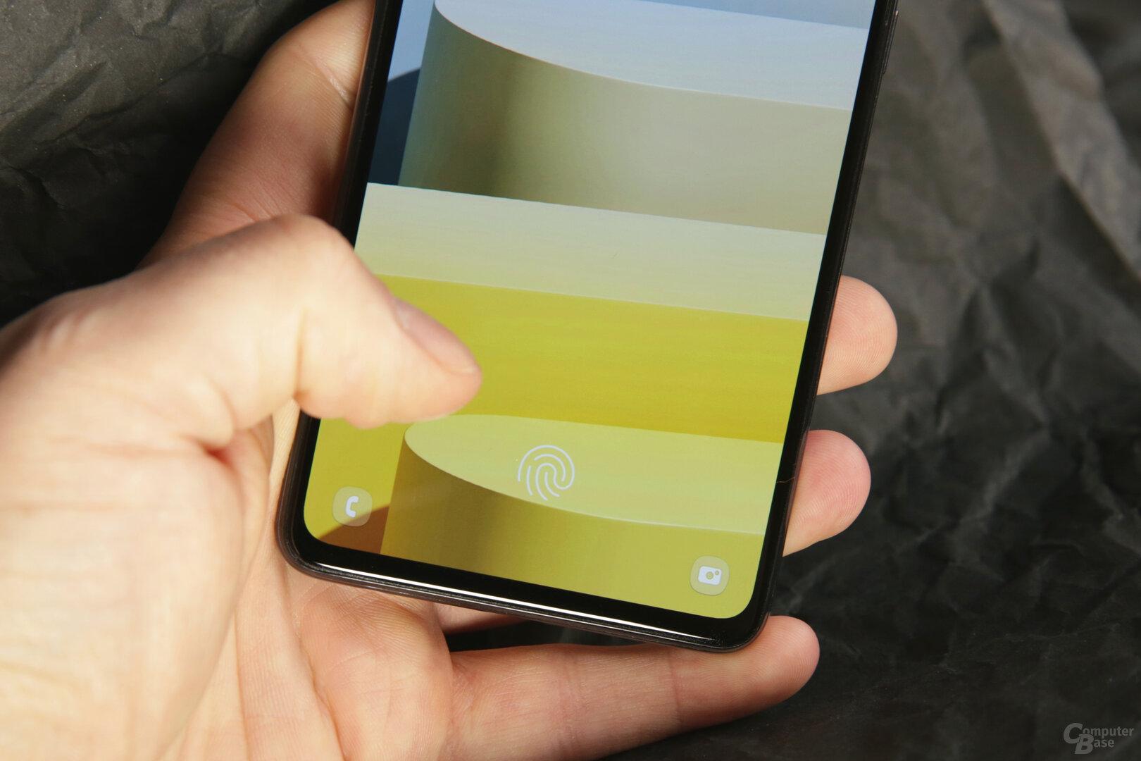 Zuverlässiger in das Display integrierter Fingerabdrucksensor