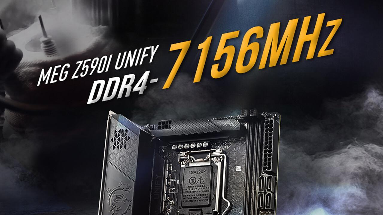 Weltrekord mit 7.156 MHz: Intel, MSI und Kingston erreichen beinahe DDR4-7200