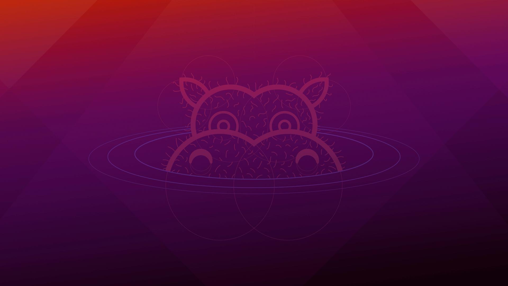 """Der offizielle Wallpaper von Ubuntu 21.04 (""""Hirsute Hippo"""")"""