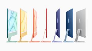 Apple: Neuer iMac mit M1-Prozessor ist viel dünner und farbenfroh