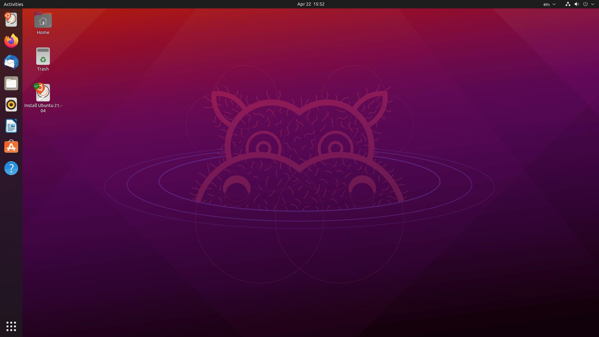 """Ubuntu 21.04 (""""Hirsute Hippo"""") mit Gnome 3.38.4 (""""Orbis"""")"""