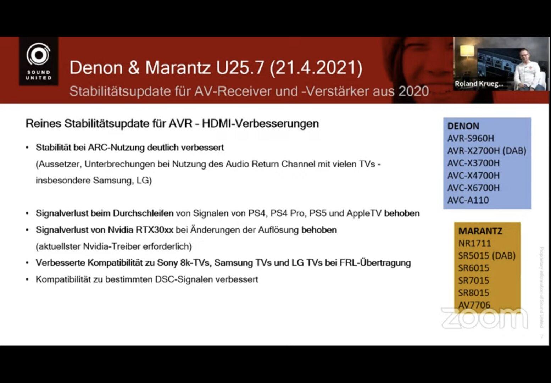 Actualizaciones con actualización de firmware U25.7