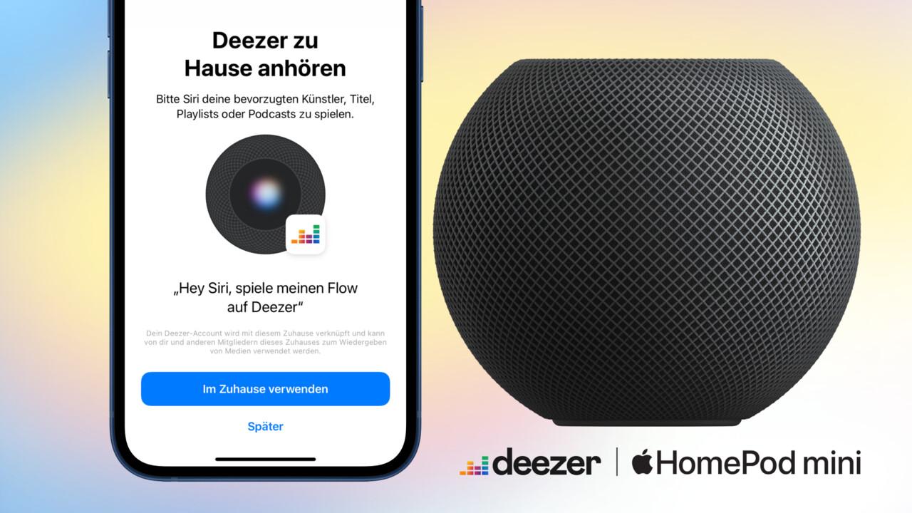 Apple HomePod: Deezer kommt mit Siri-Support auf die Lautsprecher