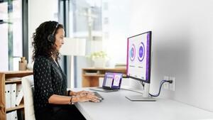 """Dell P3222QE: 32""""-Monitor kombiniert viele Pixel mit USB-C und Netzwerk"""