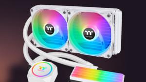 Floe RCxxx ARGB Snow Edition: Thermaltakes CPU/RAM-Wasserkühlung in Weiß