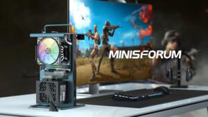Minisforum GameMini: Ryzen 5 5600X und Radeon RX 6700 XT im offenen Chassis
