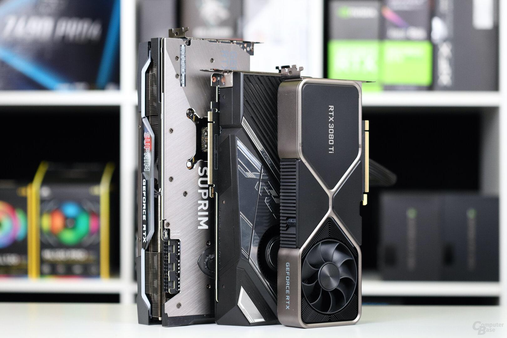 Die GeForce RTX 3080 Ti von Asus, MSI und Nvidia im Test