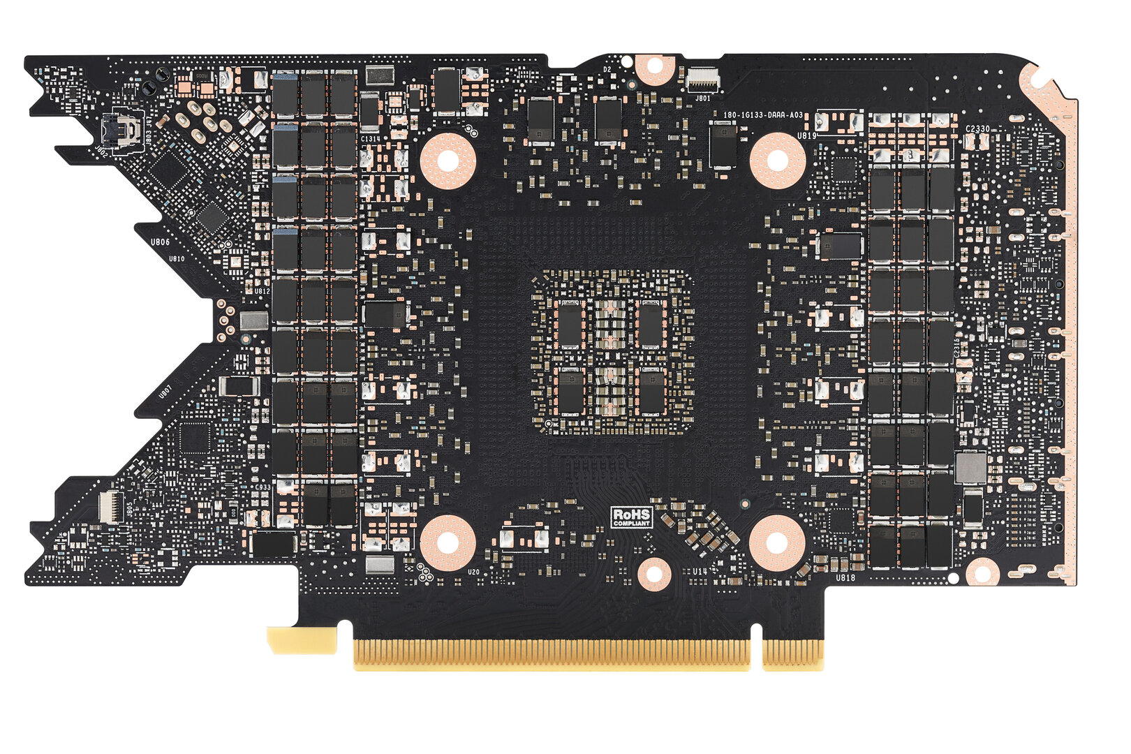 PCB der Nvidia GeForce RTX 3080 Ti Founders Edition