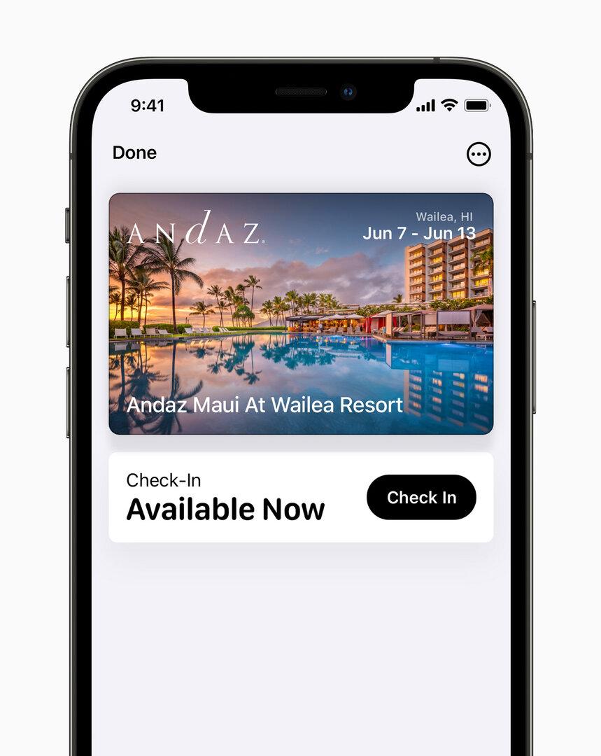 Apple Wallet Hotel Zimmerschlüssel