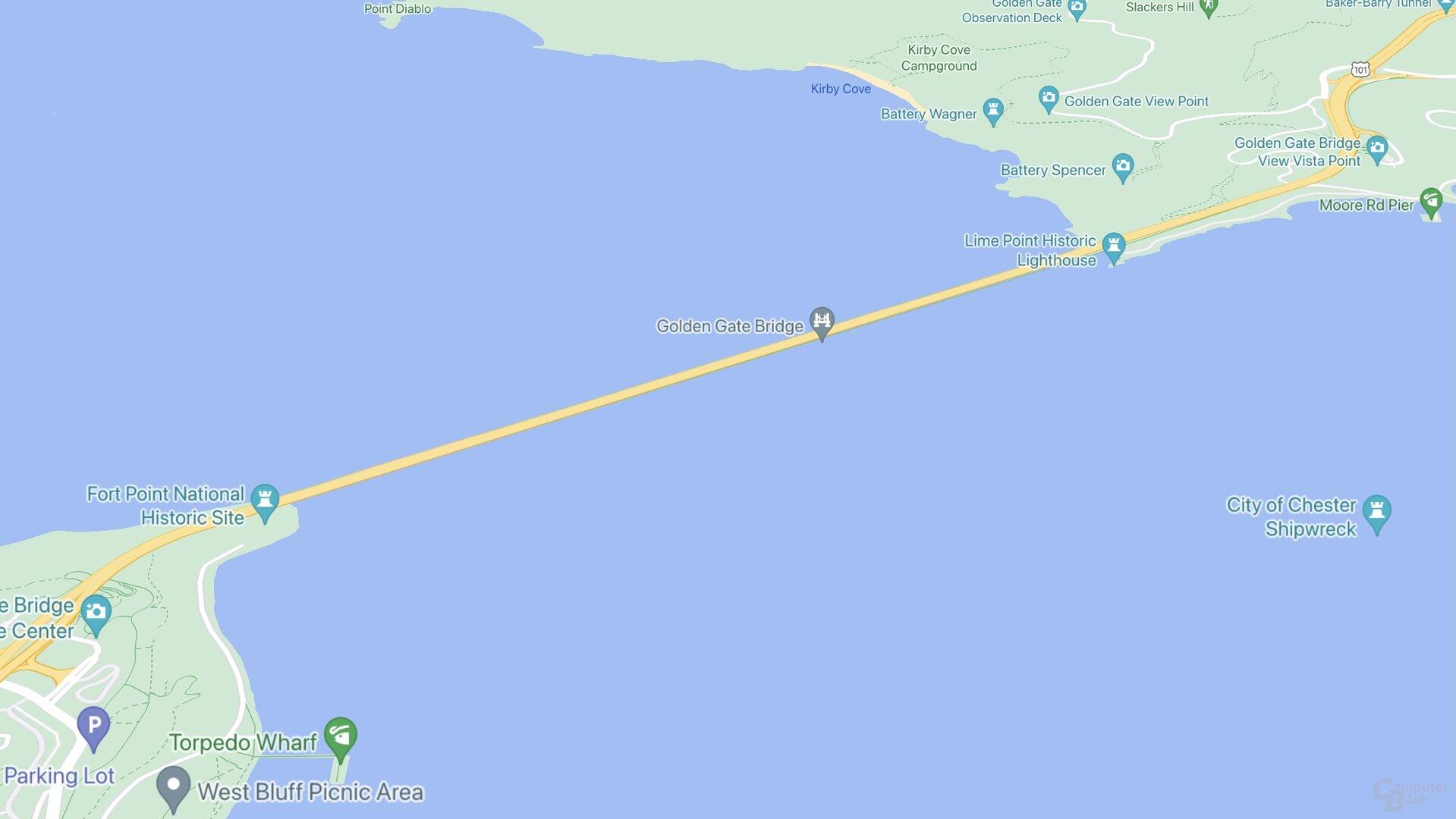 Puente SF Golden Gate (Google Maps)