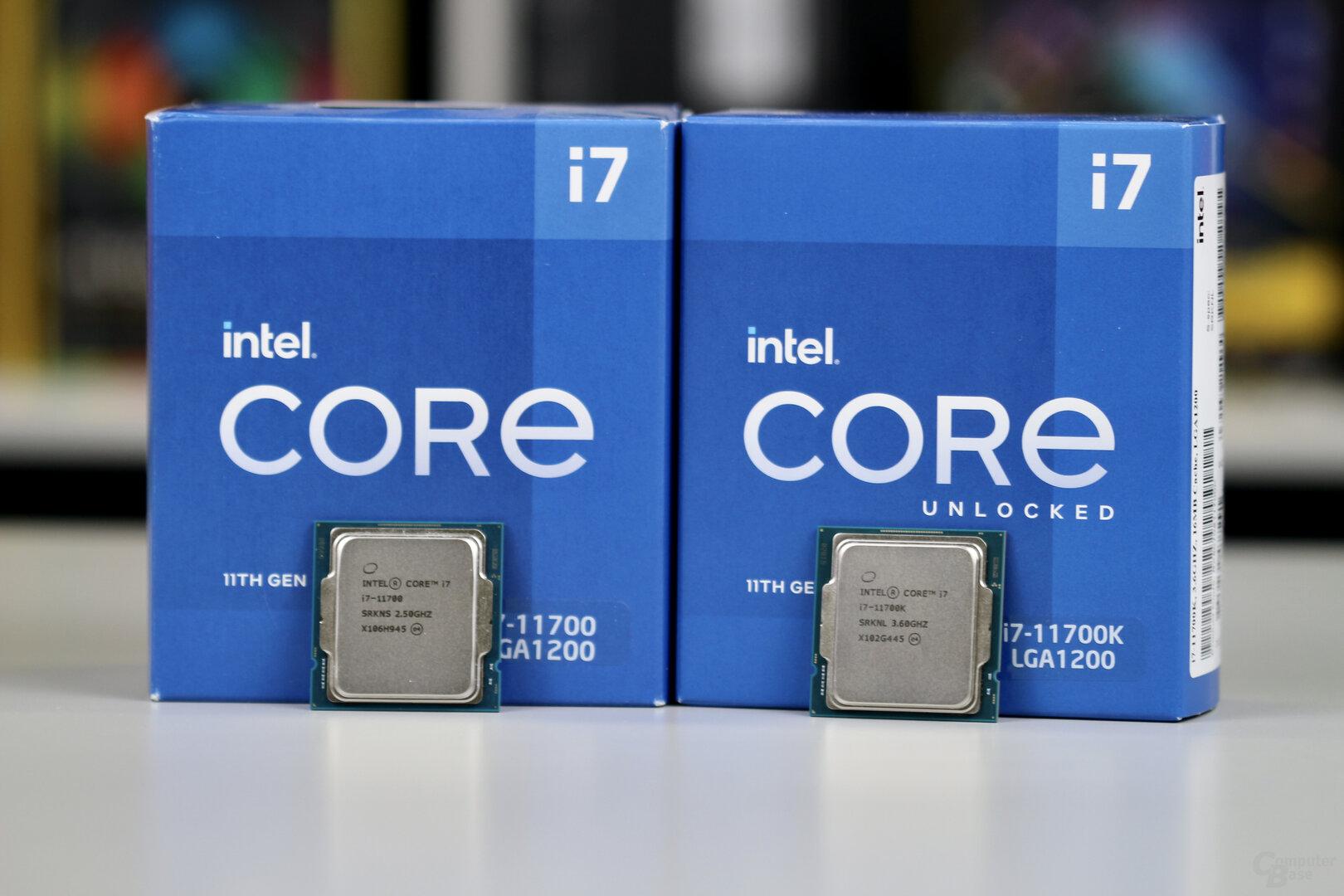 Intel Core i7-11700 und 11700K