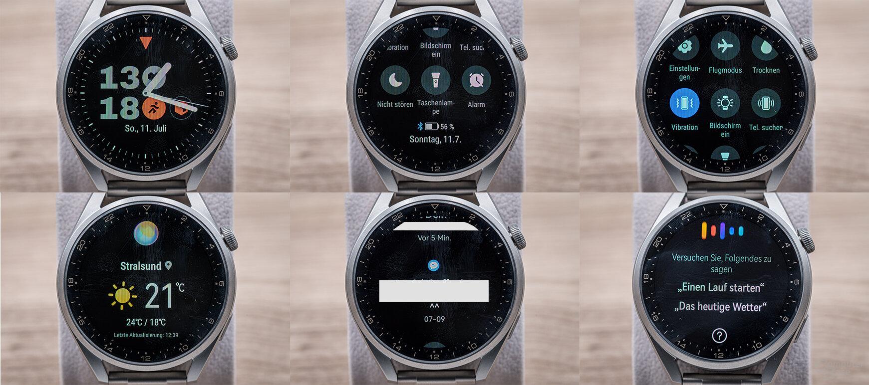 Huawei Watch 3 Pro im Test: Menüstruktur