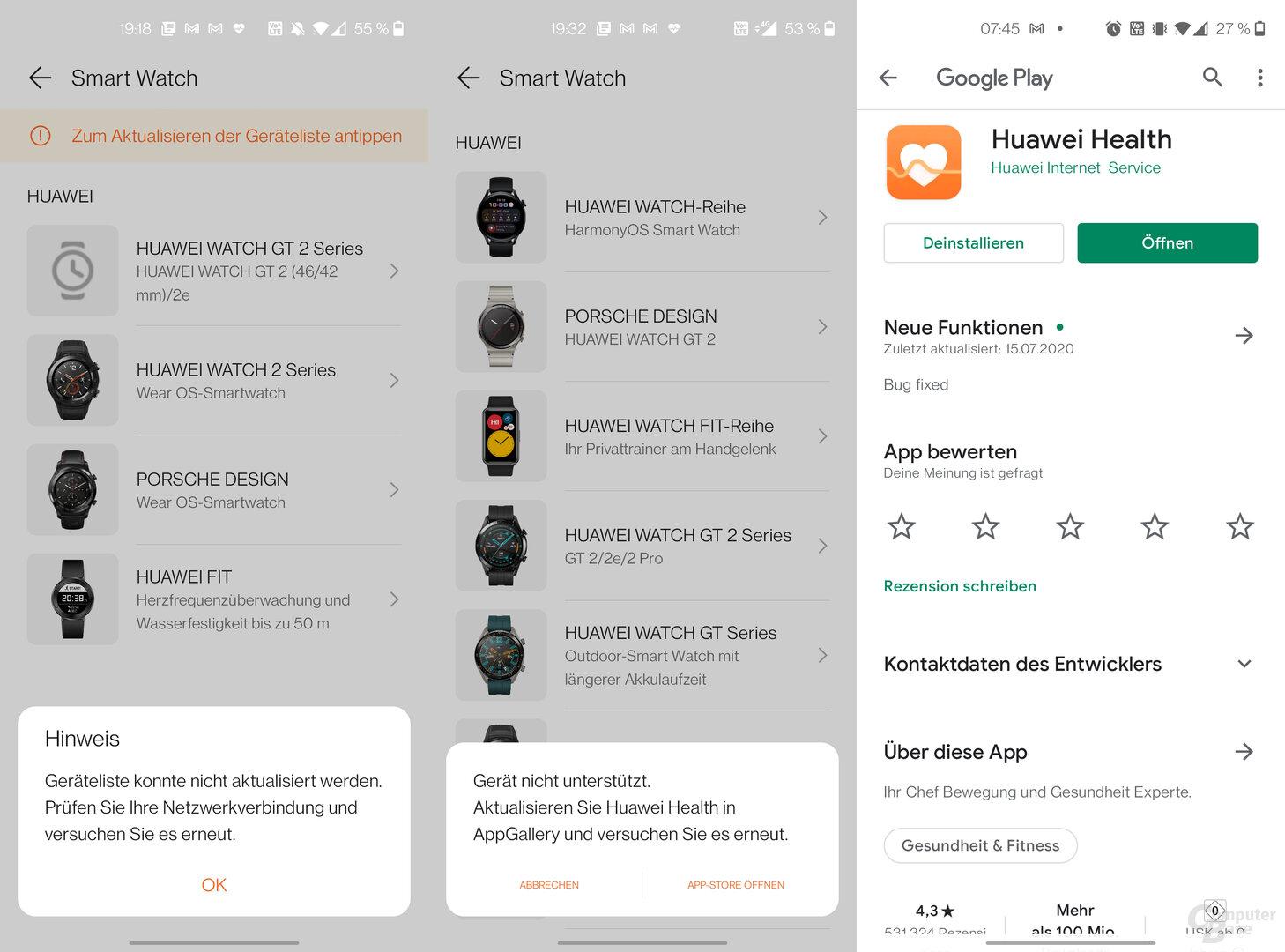 Huawei Watch 3 Pro im Test: Pairing sorgt für Frust
