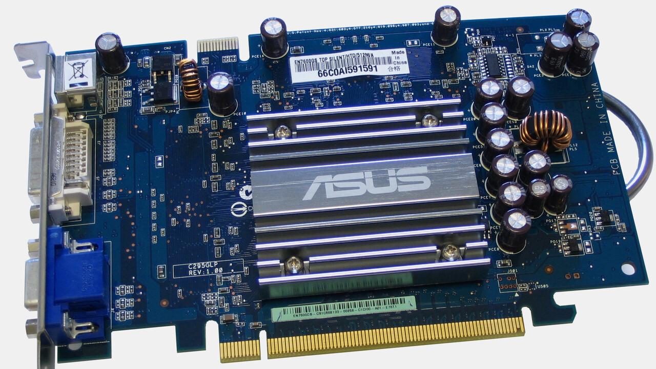 Im Test vor 15 Jahren: Eine übertaktete GeForce 7600 GS mit 512 MByte Speicher