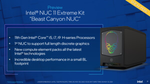 NUC 11 Extreme Beast Canyon: Intels schnellster Mini-PC startet ab 1.100 Euro