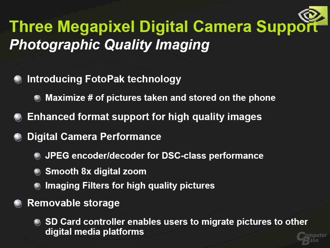 3 Megapixel Digtal Camera Support