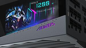 Gigabyte Aorus P1200W: 1.200-Watt-Netzteil mit konfigurierbarem LC-Display