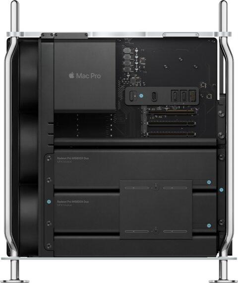 Mac Pro z dwoma kartami Radeon Pro W6800X Duo