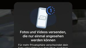 Einmalansicht: WhatsApp löscht Fotos und Videos nach erstem Öffnen