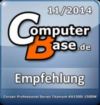 ComputerBase-Empfehlung für Corsair Professional Series Titanium AX1500i 1500W