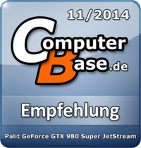 ComputerBase-Empfehlung für Palit GeForce GTX 980 Super JetStream