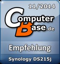ComputerBase-Empfehlung für Synology DS215j