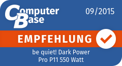 ComputerBase-Empfehlung für be quiet! Dark Power Pro P11 550 Watt