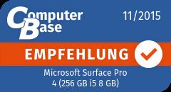 ComputerBase-Empfehlung für Microsoft Surface Pro 4 (256 GB i5 8 GB)