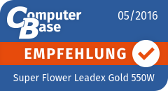 ComputerBase-Empfehlung für Super Flower Leadex Gold 550W