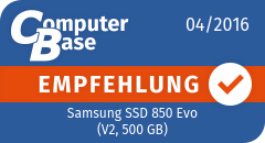 ComputerBase-Empfehlung für Samsung SSD 850 Evo (V2, 500 GB)