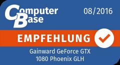 ComputerBase-Empfehlung für Gainward GeForce GTX 1080 Phoenix GLH