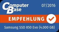 ComputerBase-Empfehlung für Samsung SSD 850 Evo (4.000 GB)