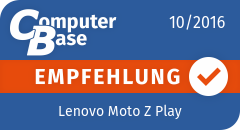 ComputerBase-Empfehlung für Lenovo Moto Z Play