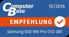 ComputerBase-Empfehlung für Samsung SSD 960 Pro (512 GB)